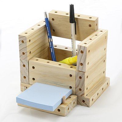 desk organizer built with smart blocks